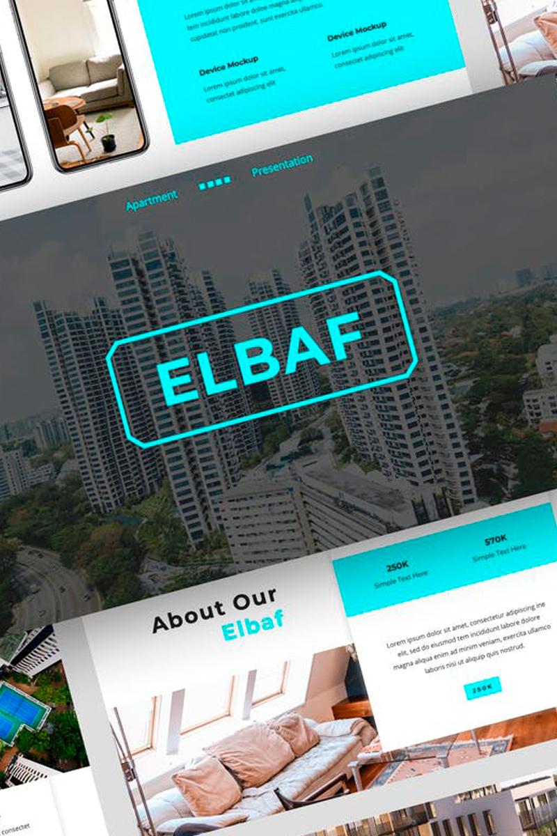 """Elbaf - Apartment Presentation"" modèle Keynote  #87722"