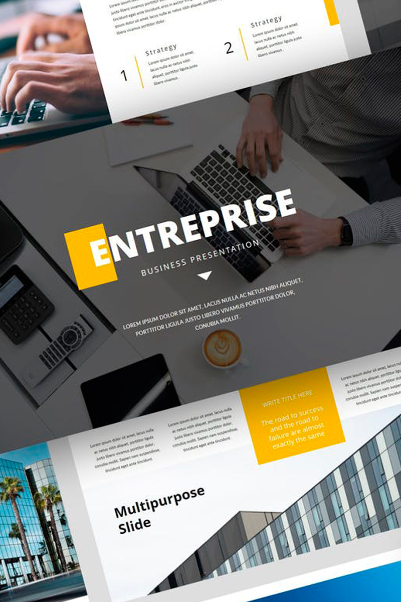 """Entreprise - Business Presentation"" Keynote Template №87721"