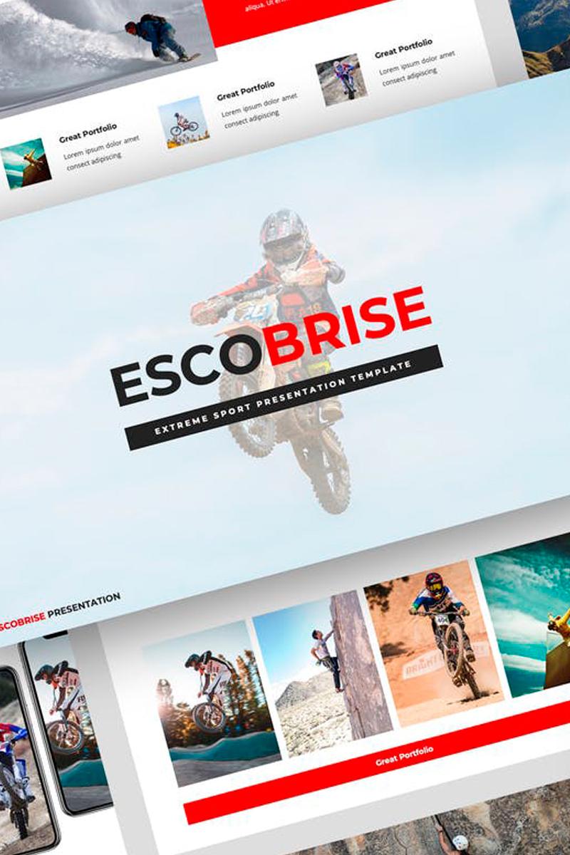 """Escobrise - Extreme Sport Presentation"" Keynote Template №87720"