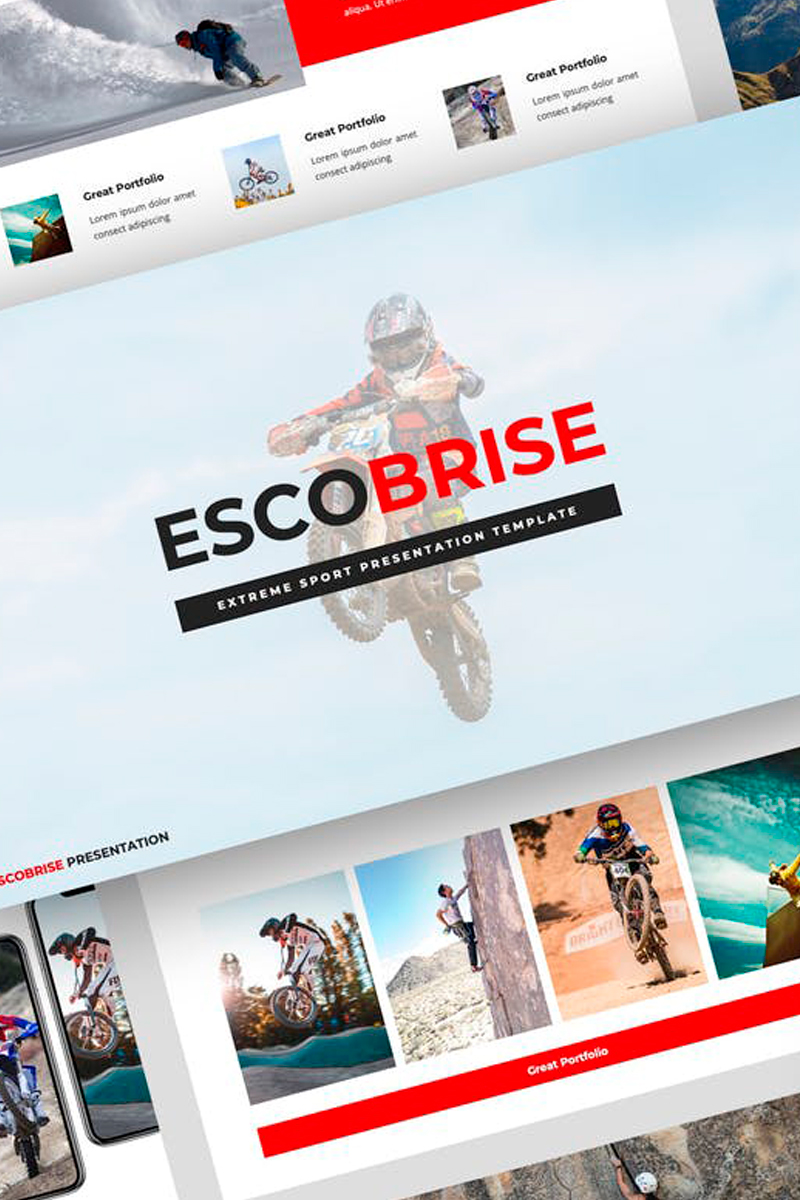 """Escobrise - Extreme Sport Presentation"" modèle Keynote  #87720"