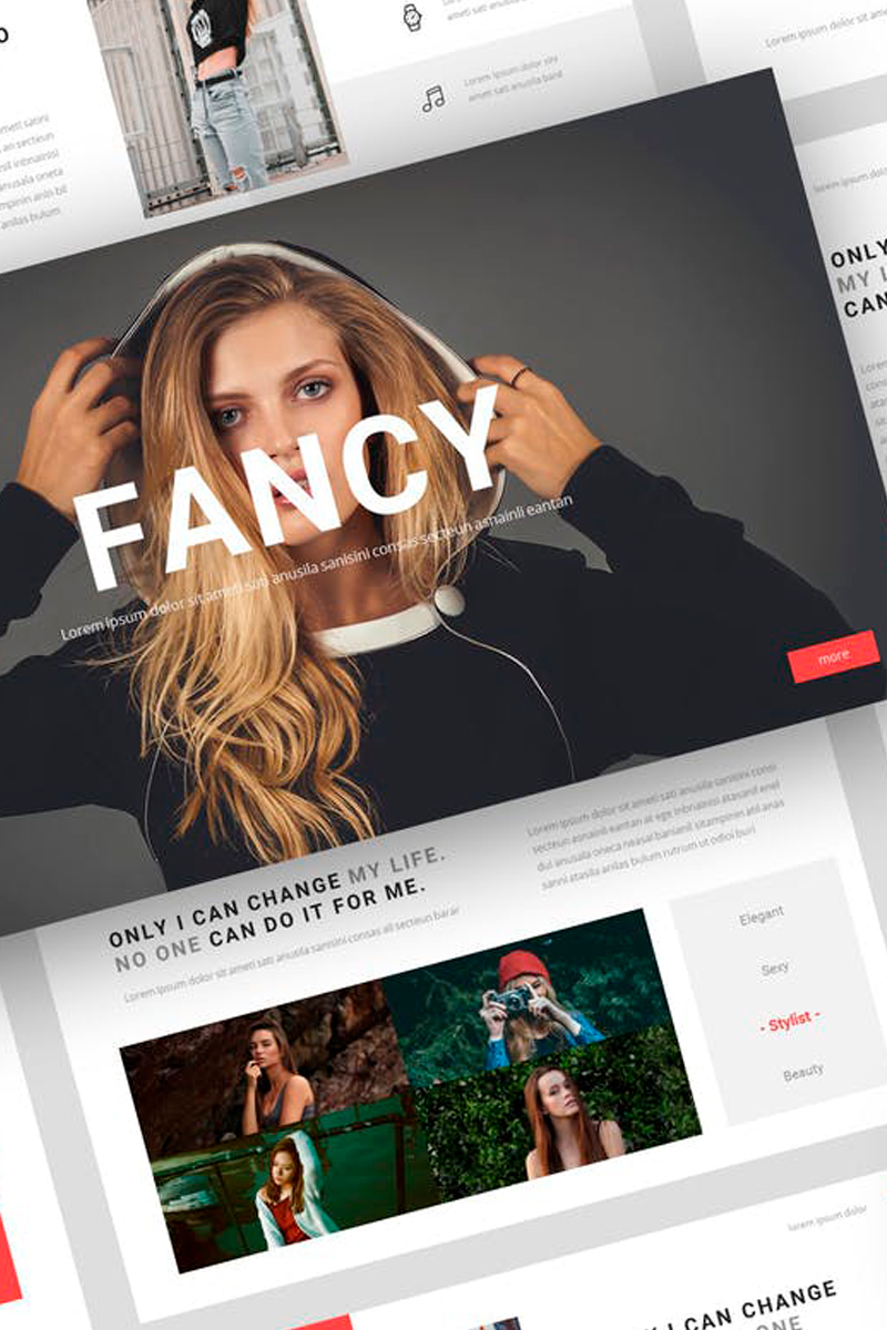 Fancy - Fashion Presentation Keynote Template #87719