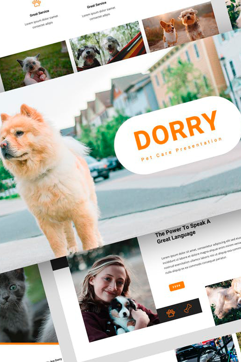 "Keynote Vorlage namens ""Dorry - Pet Care Presentation"" #87726"