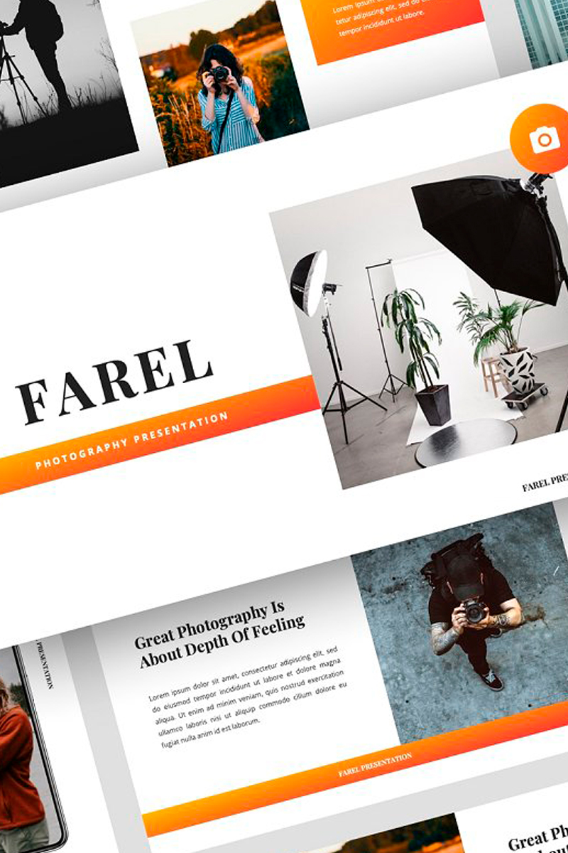 "Keynote Vorlage namens ""Farel - Photography Presentation"" #87718"