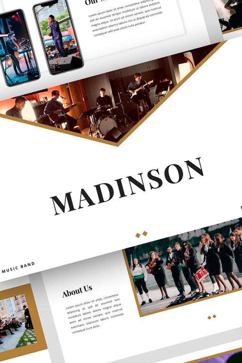 """Madinson - Music Band Presentation"" modèle Keynote  #87717"
