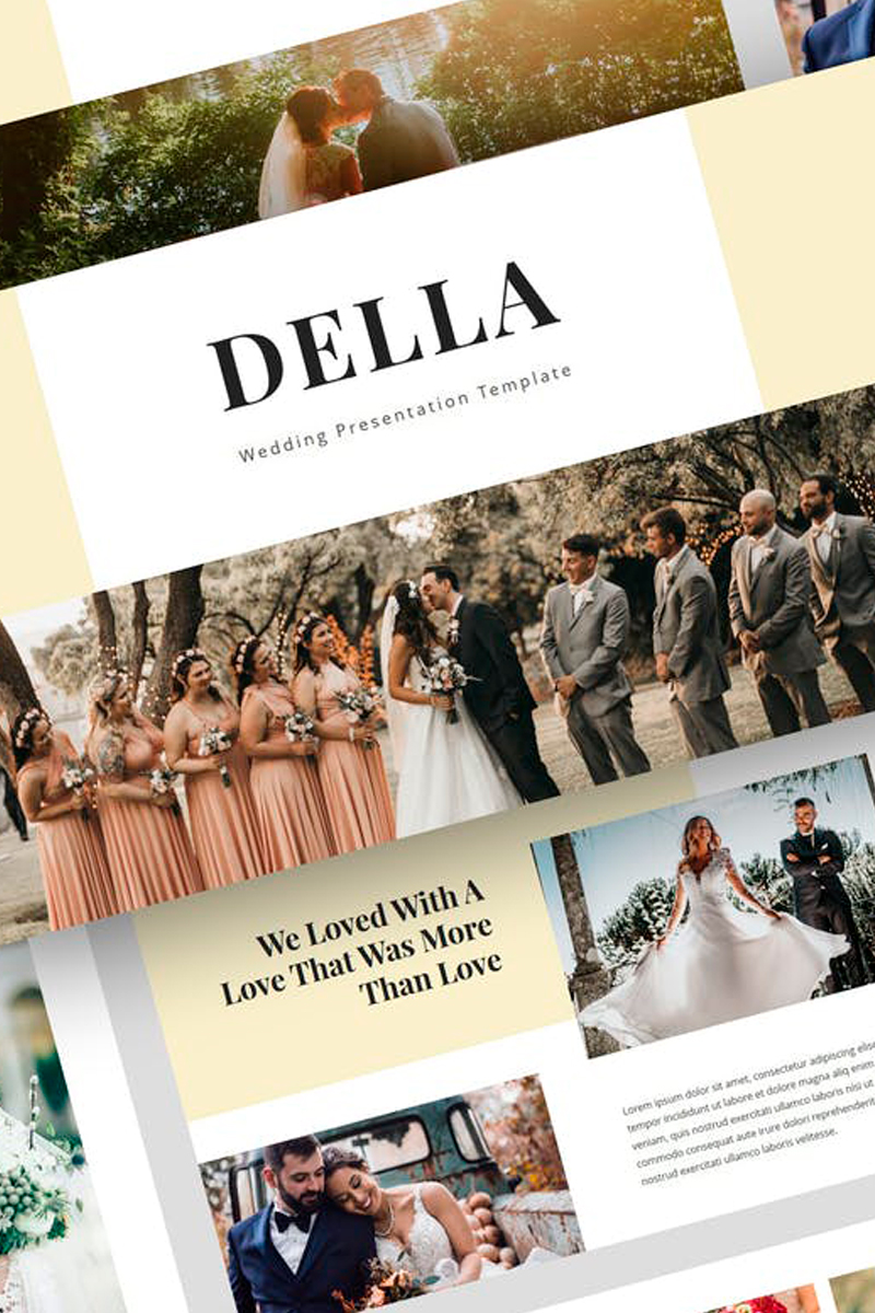 "Plantilla Keynote ""Della - Wedding Presentation"" #87736"