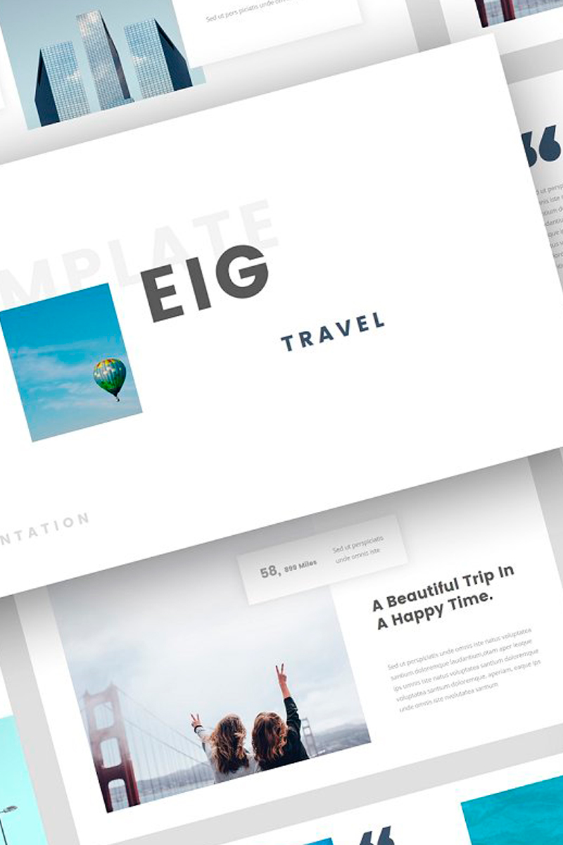 """Plantilla Keynote """"Eig - Travel Presentation"""" #87723"""