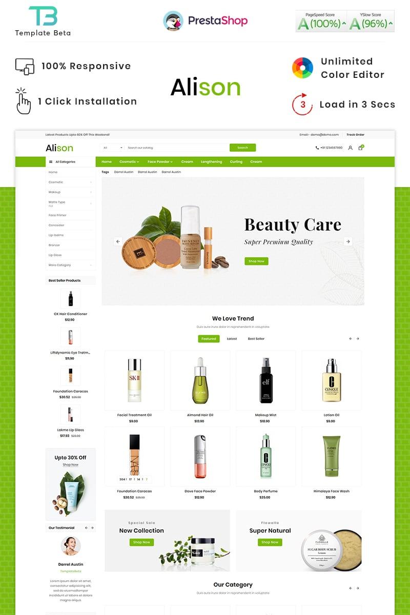 Responsywny szablon PrestaShop Alison Cosmetic Mega Store #87740