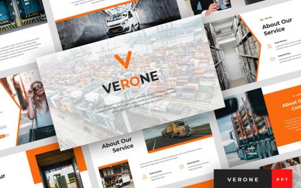 Verone - Logistics & Transport Presentation PowerPoint Template