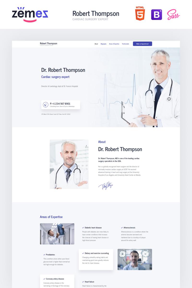"Modello di Landing Page Responsive #87878 ""Lintense Doctor - Medical Clean HTML"""