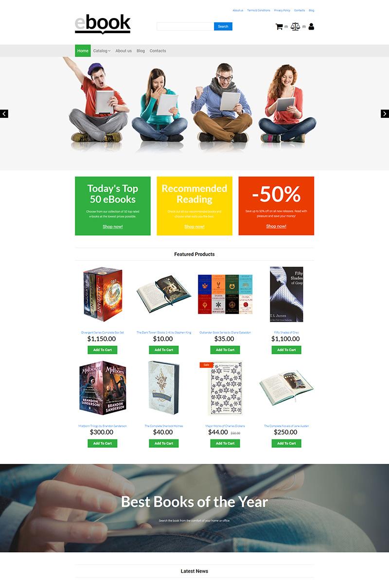Responsive Ebook - Book Store Motocms E-Ticaret #87836