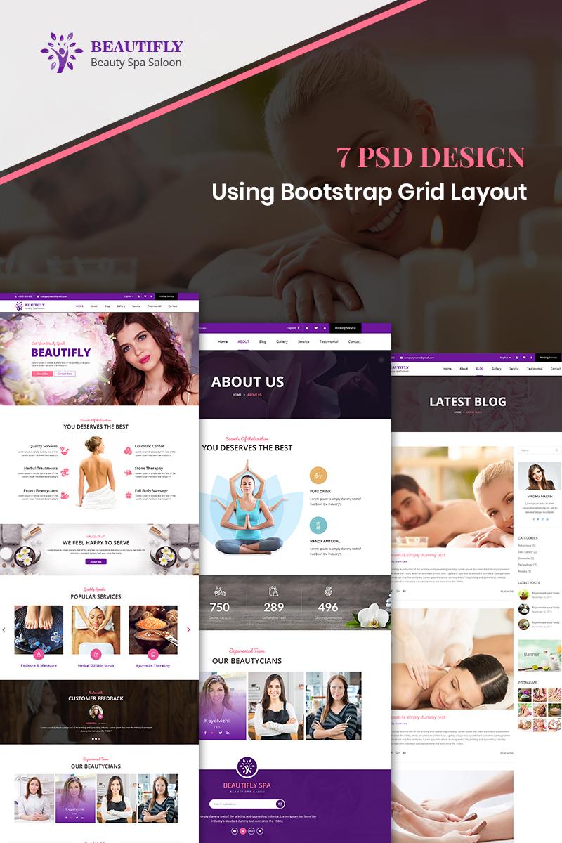 Bootstrap szablon PSD Beautifly - Beauty Spa #87917