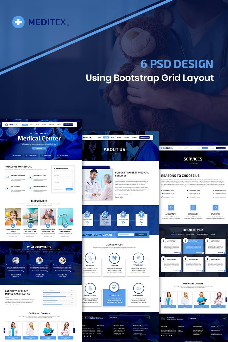 Bootstrap szablon PSD Meditex - Medical #87914