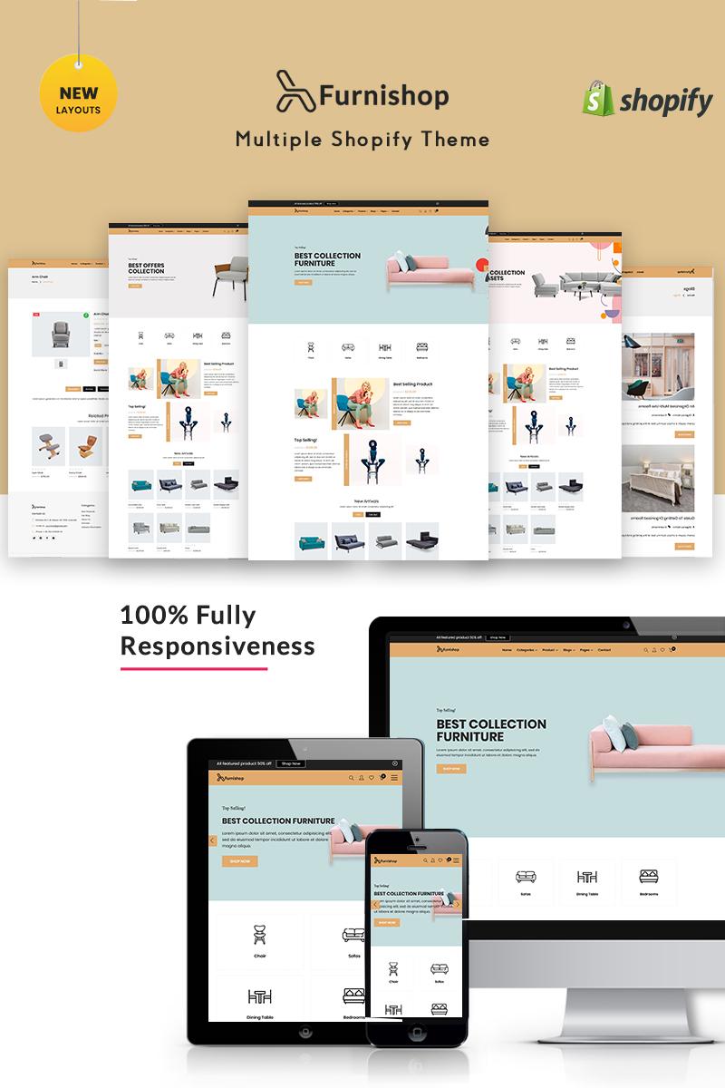 """Furniture - The Interior"" Shopify模板 #87909"