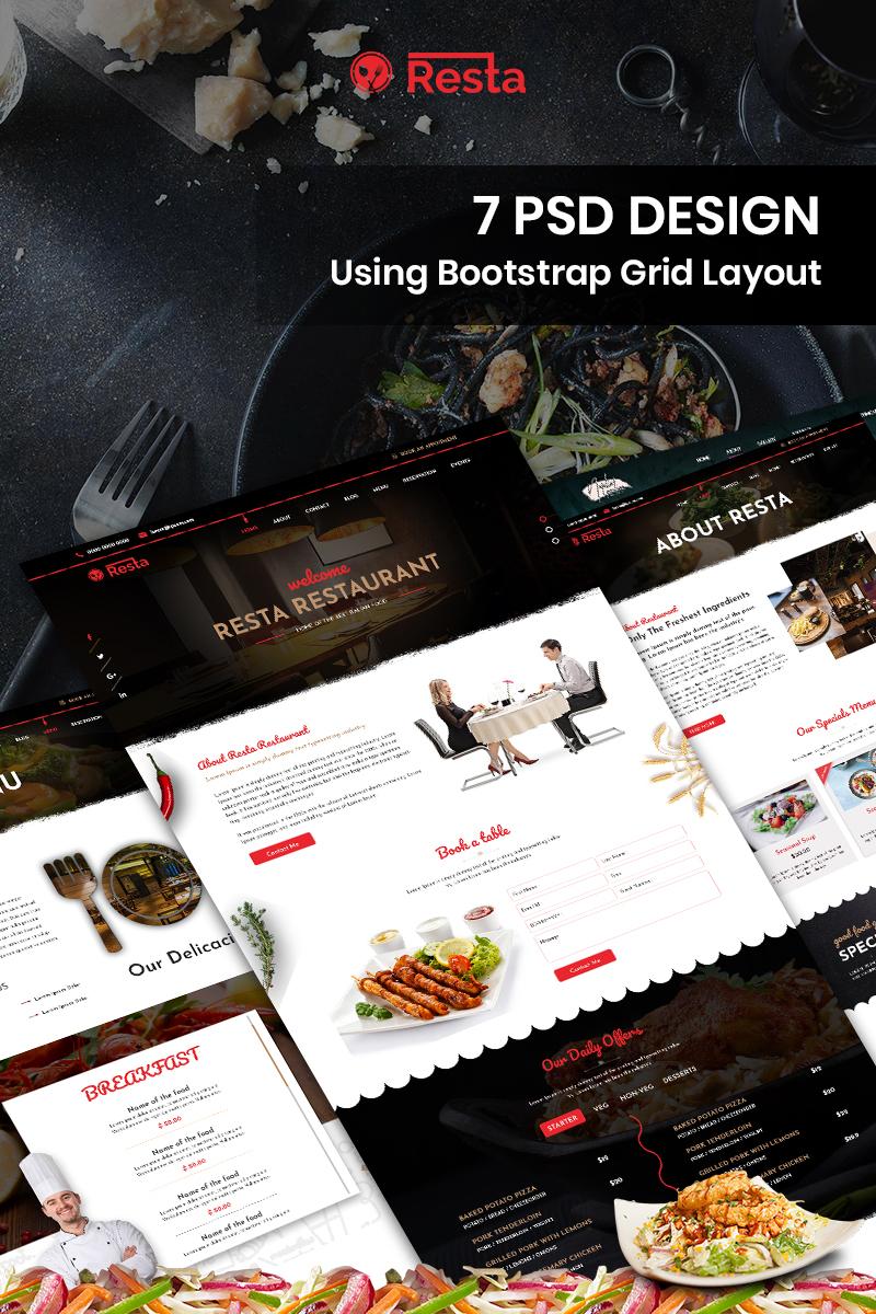 """Template PSD Bootstrap #87913 """"Resta - Restaurant"""""""