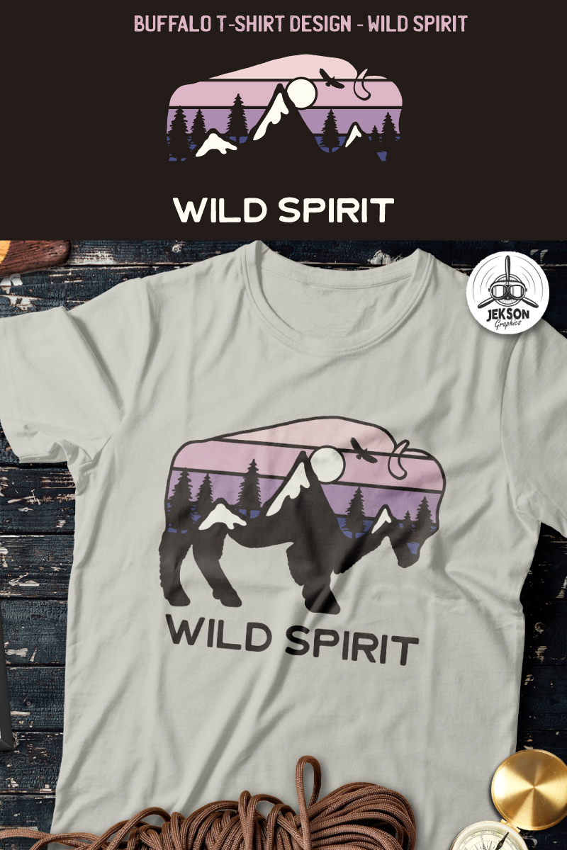 Buffalo Design - Wild Spirit T-shirt - screenshot