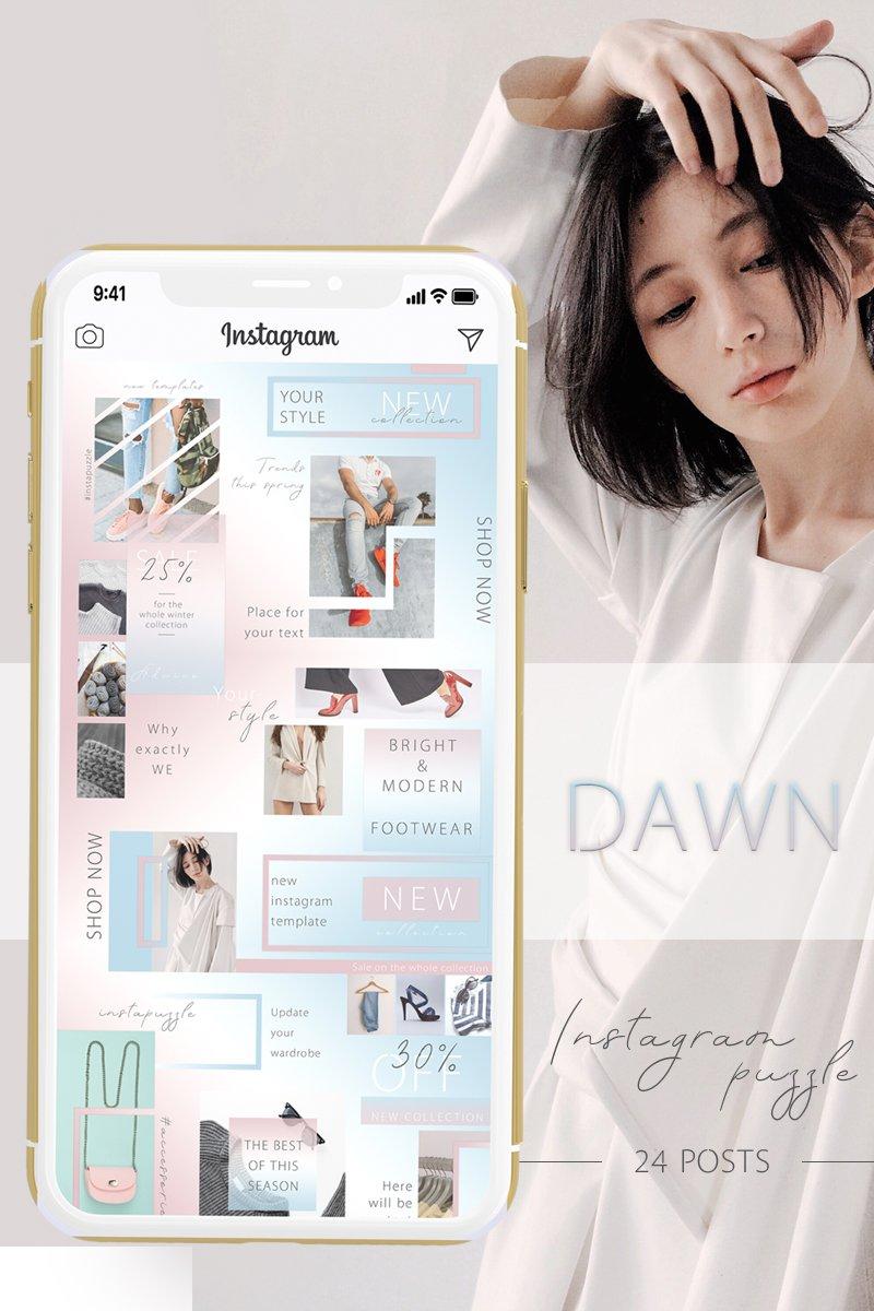 """DAWN - Instagram Puzzle"" - Шаблон для соцмереж №88075"
