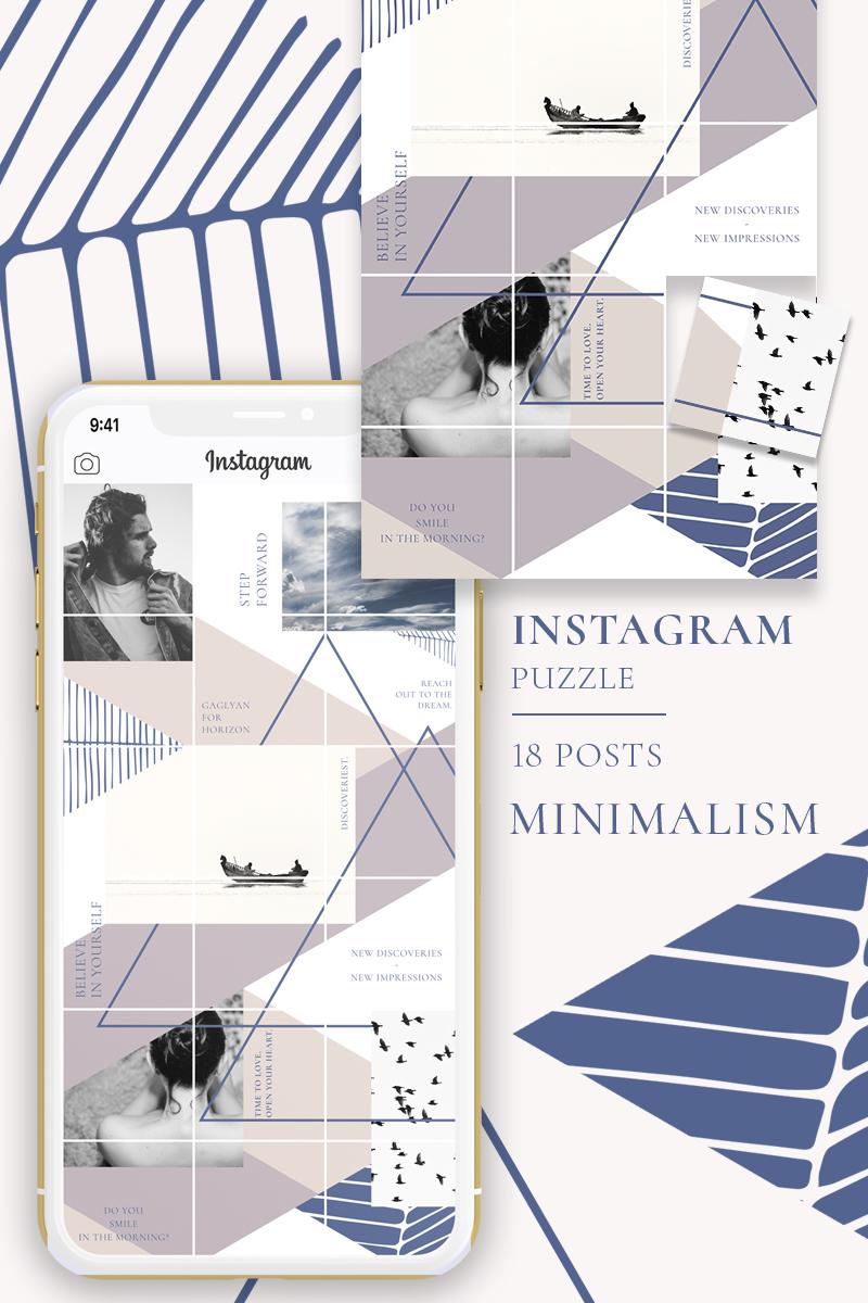 """MINIMALISM - Instagram Puzzle"" - Шаблон для соцмереж №88076"