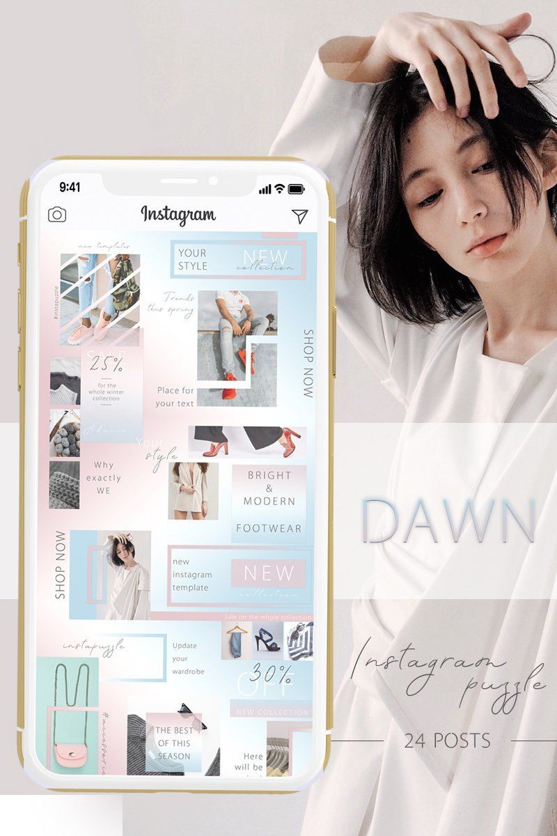 "Template Social Media #88075 ""DAWN - Instagram Puzzle"""