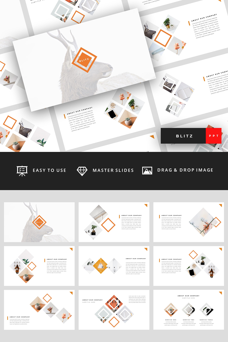 Blitz - Creative Presentation PowerPoint Template