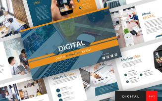 Digital - Digital Marketing Presentation PowerPoint template