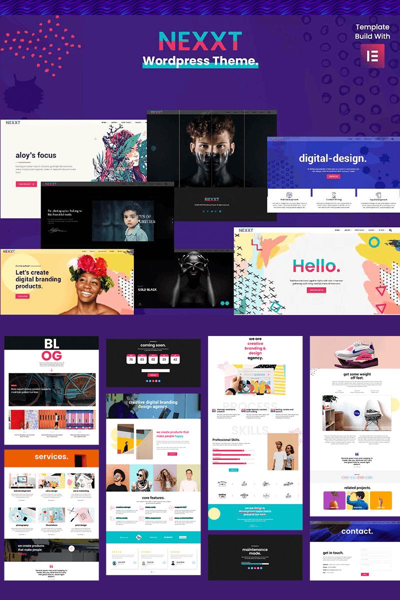 """Nexxt - Modern, Colorful & Creative Portfolio"" 响应式WordPress模板 #88198"