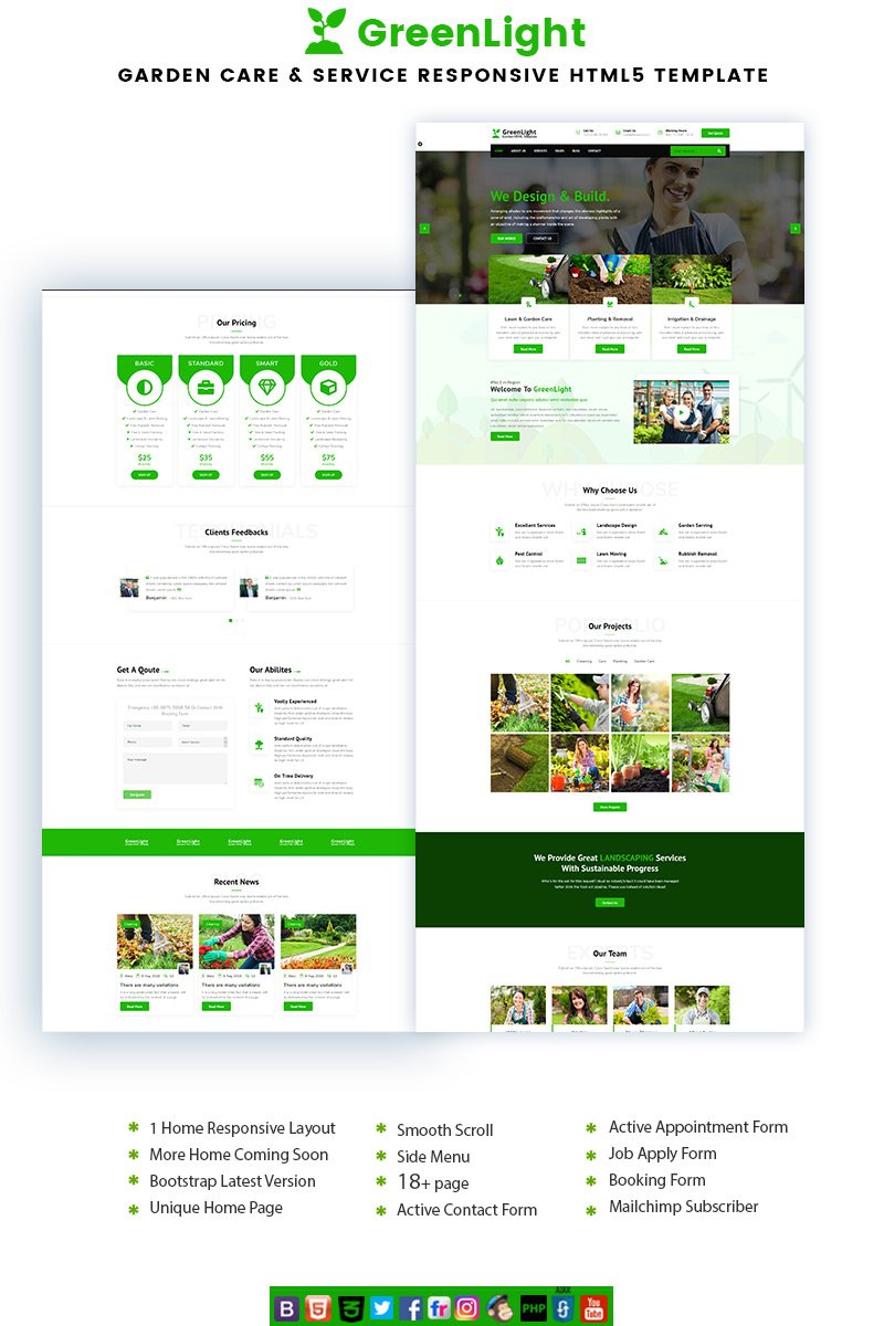 GreenLight - Garden Care & Service Landing Page Template