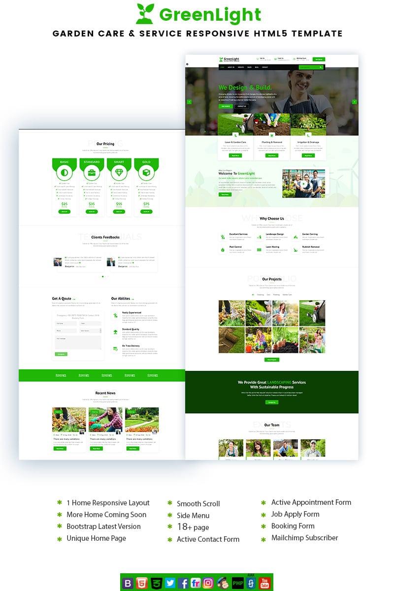 GreenLight - Garden Care & Service Landing Page Template - screenshot