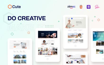 Cute - Universal Multipurpose Creative HTML Website Template