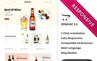 Drinkio - The Wine Shop OpenCart Template