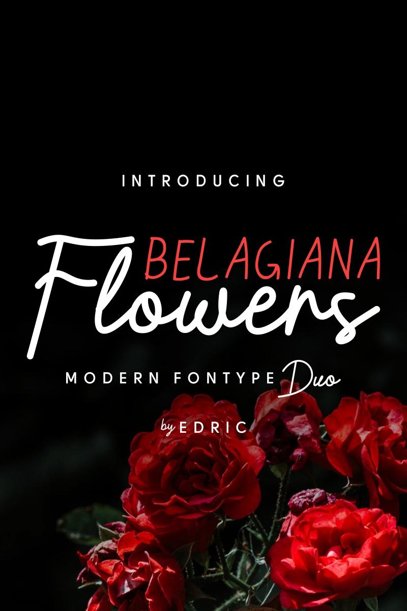 """Belagiana Flowers"" Lettertype №88305"