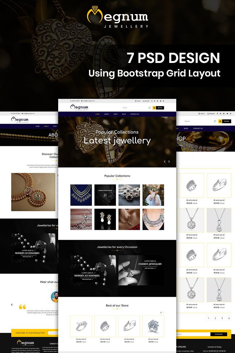 Bootstrap szablon PSD Megnum Jewellery - Jewellery #88336