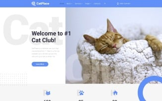 Cat Place - Animals & Pets Multipage HTML Website Template