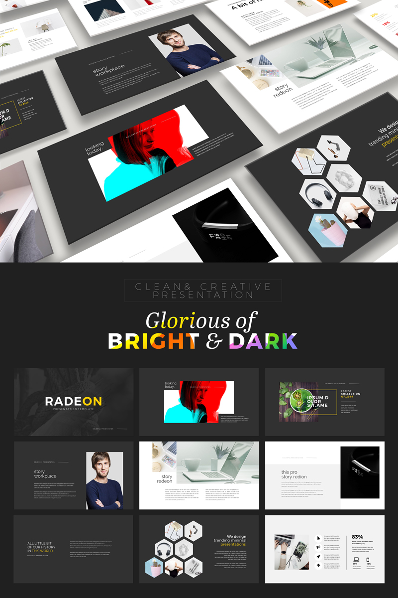 Clean & Creative Business Presentation PowerPoint Template