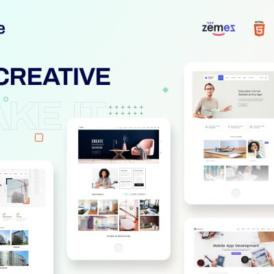 Cute - Universal Multipurpose Creative HTML Website Template #88381