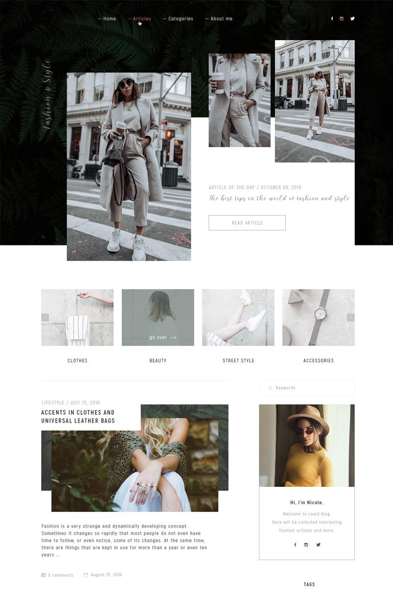 Fashion & Style PSD Template - screenshot
