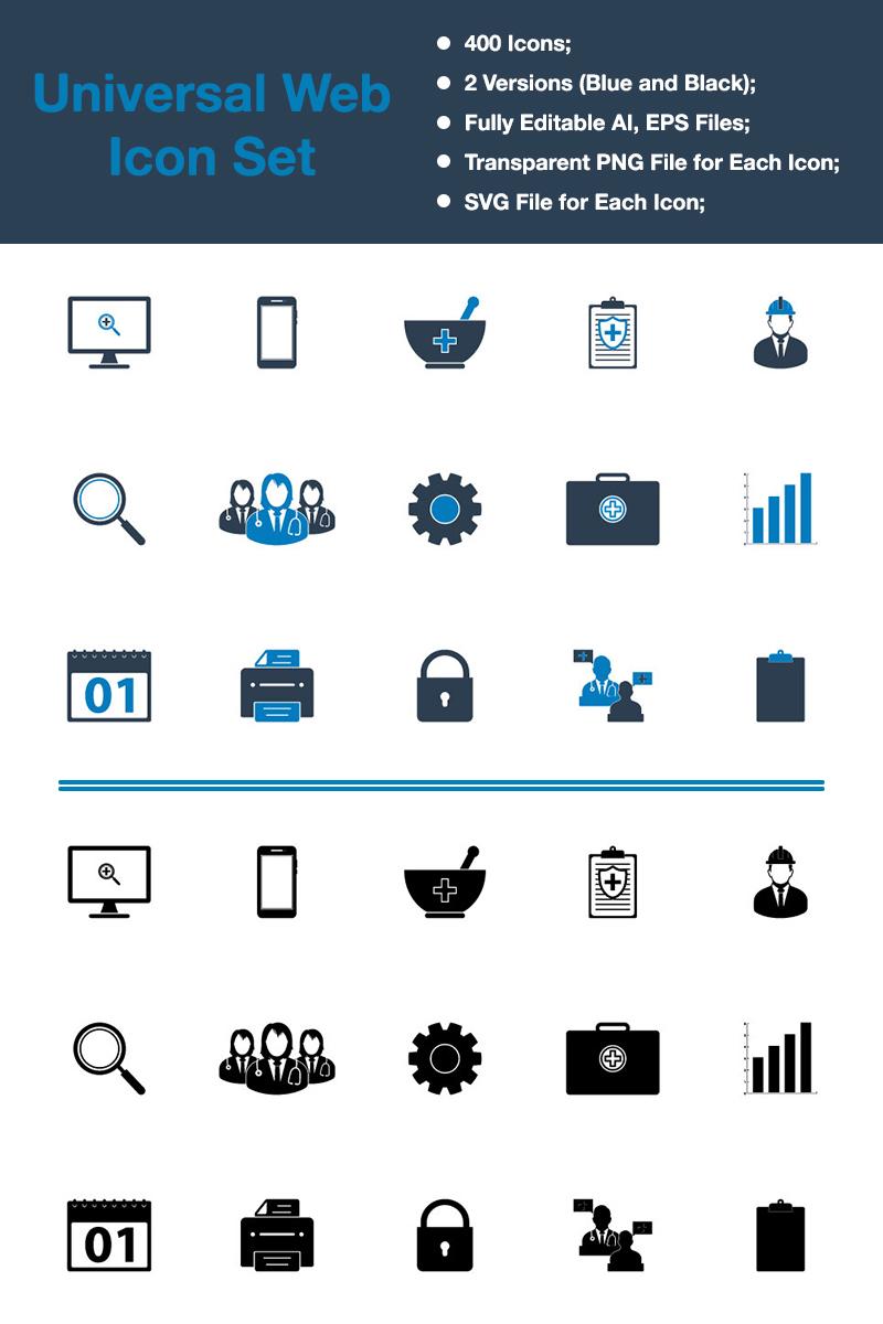 """Icon-Sammlungen Vorlage namens """"Premium - Universal Web"""" #88347"""