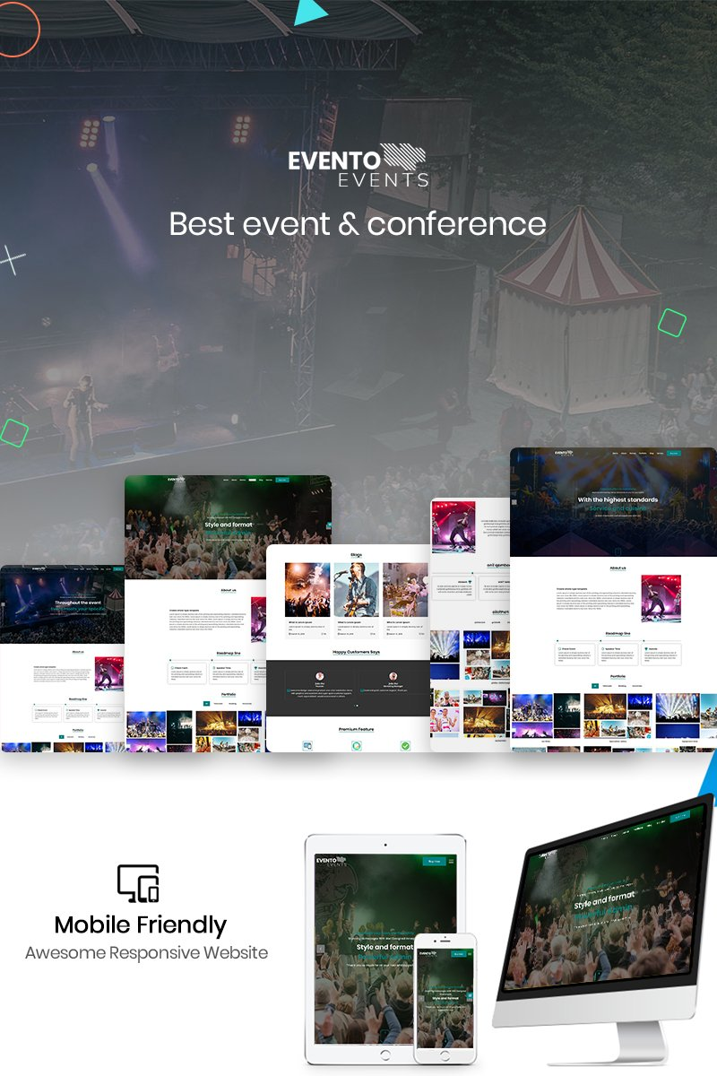 "Landing Page Template namens ""Evento - The Event"" #88354 - Screenshot"