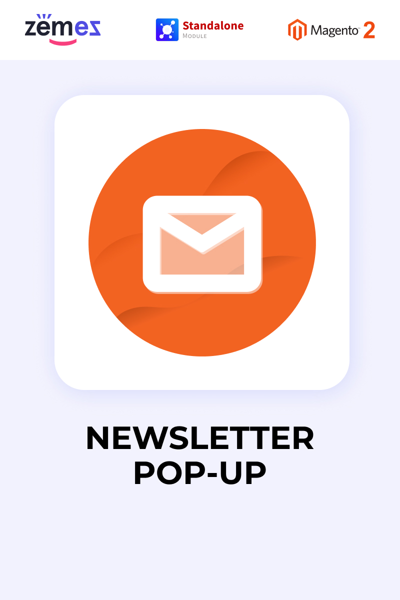 "Modello Estensione Magento Responsive #88355 ""Zemez Newsletter Pop-up"""