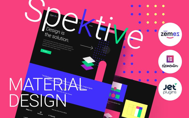 "Responzivní WordPress motiv ""Spektive - Legible And Neat Material Design"" #88388"