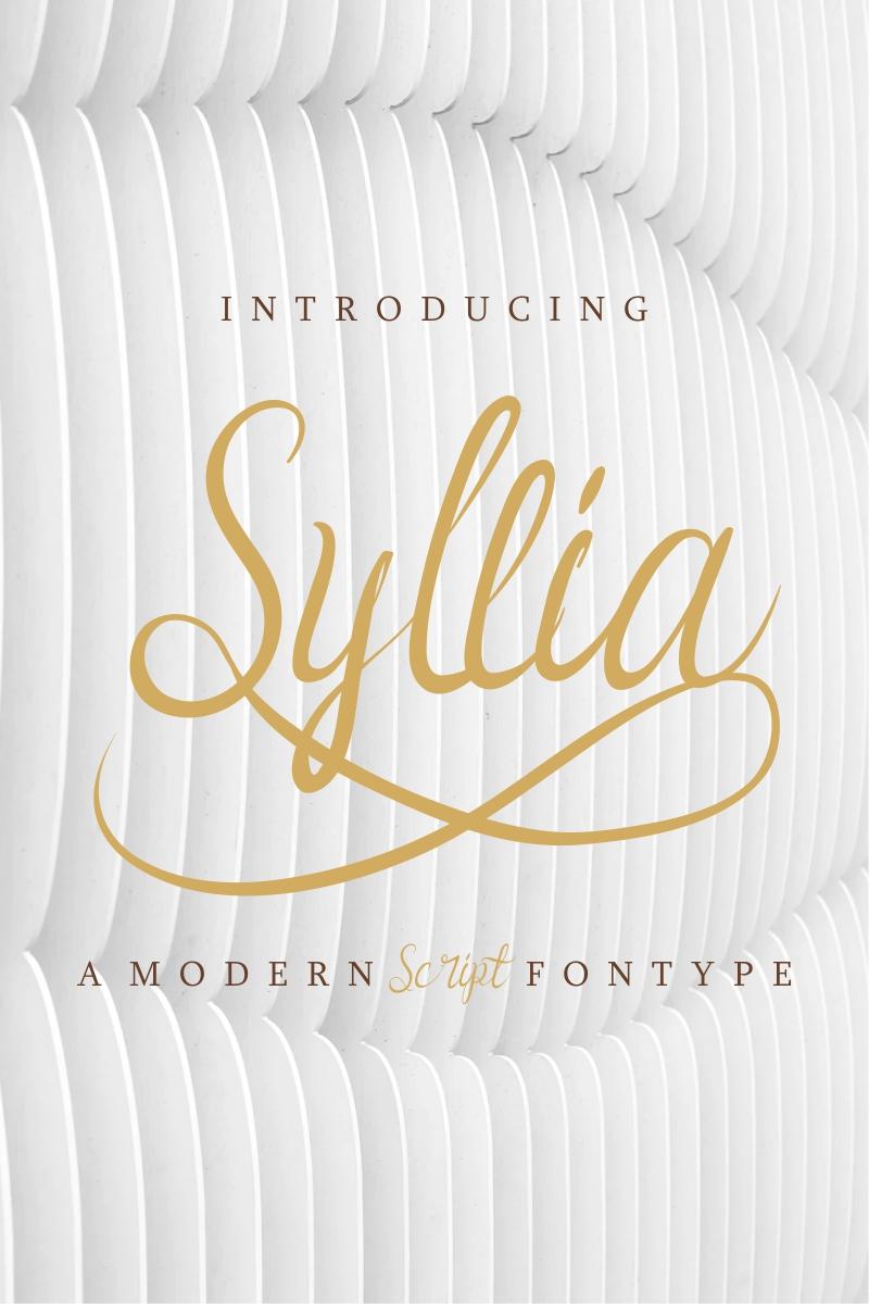 """""""Syllia"""" Lettertype №88338"""