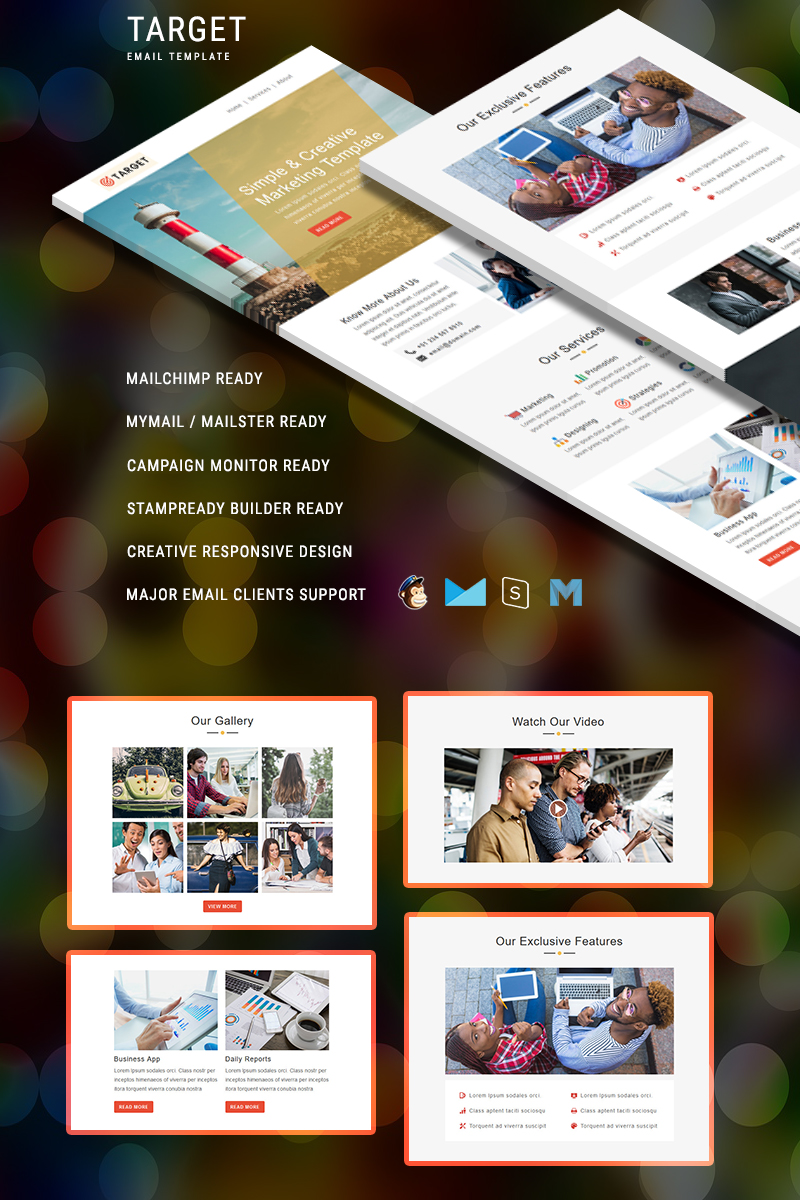 Target - Responsive Email Template de Newsletter №88353