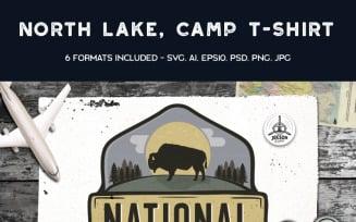 National Park, Vintage Camping - T-shirt Design