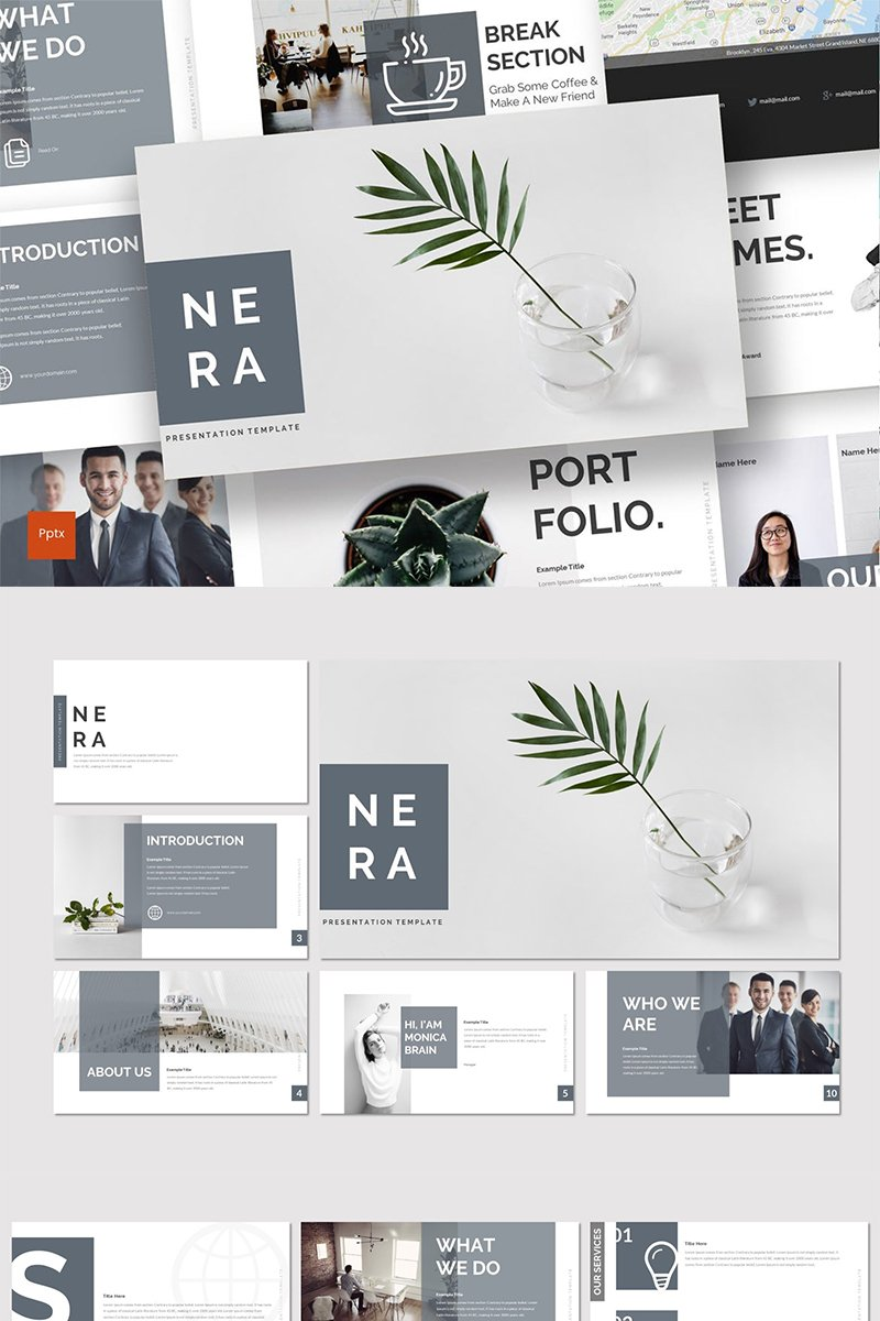 Nera PowerPoint Template - screenshot