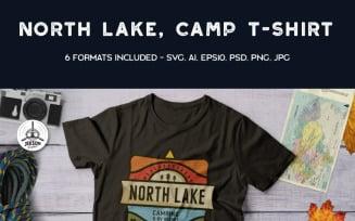 North Lake - Camping Adventure - T-shirt Design