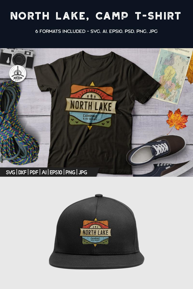 North Lake - Camping Adventure T-shirt - screenshot