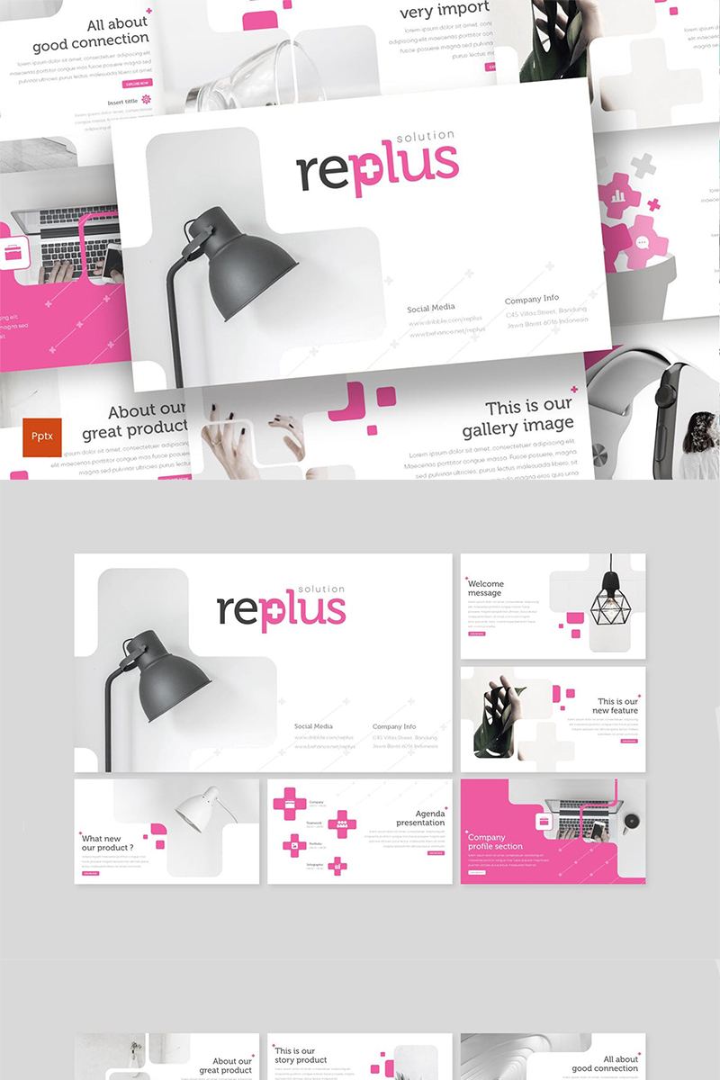 Replus Template PowerPoint №88435 - captura de tela