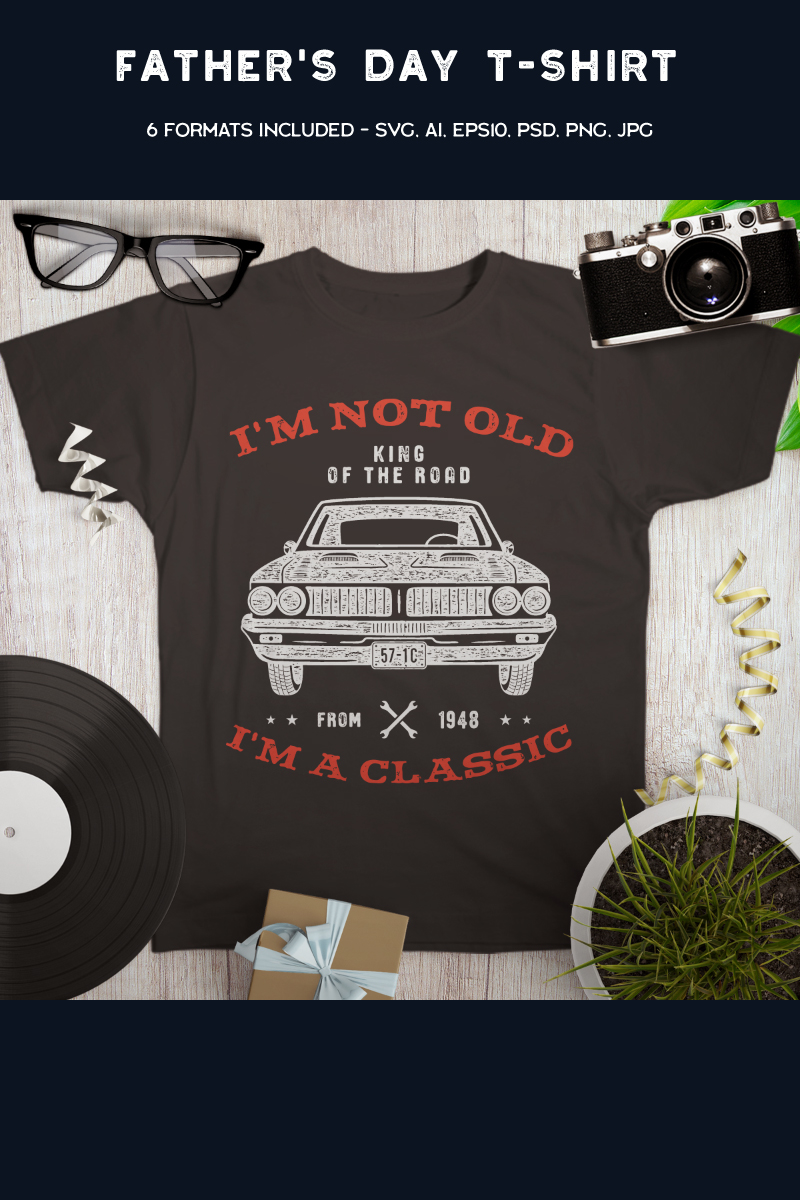 Retro Car - I'm Not Old I'm Classic T-shirt - screenshot