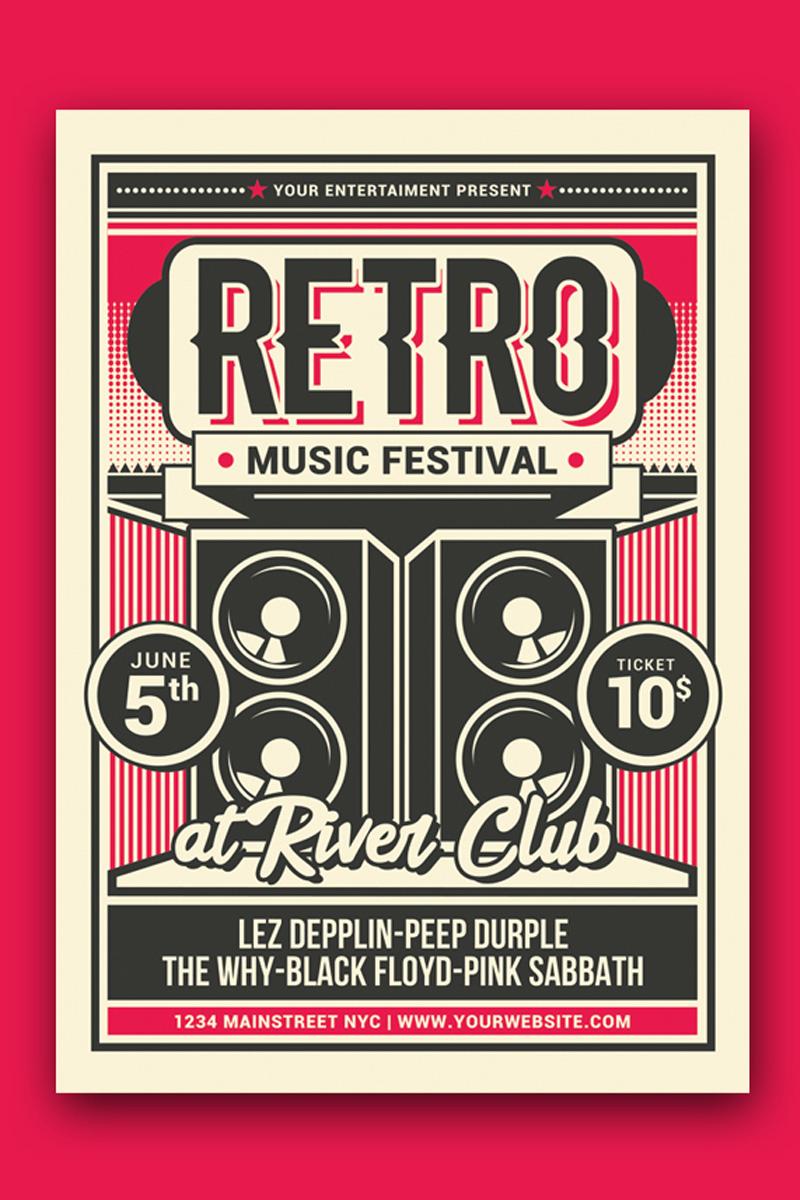 Szablon tożsamości korporacyjnej Retro Music Festival #88475