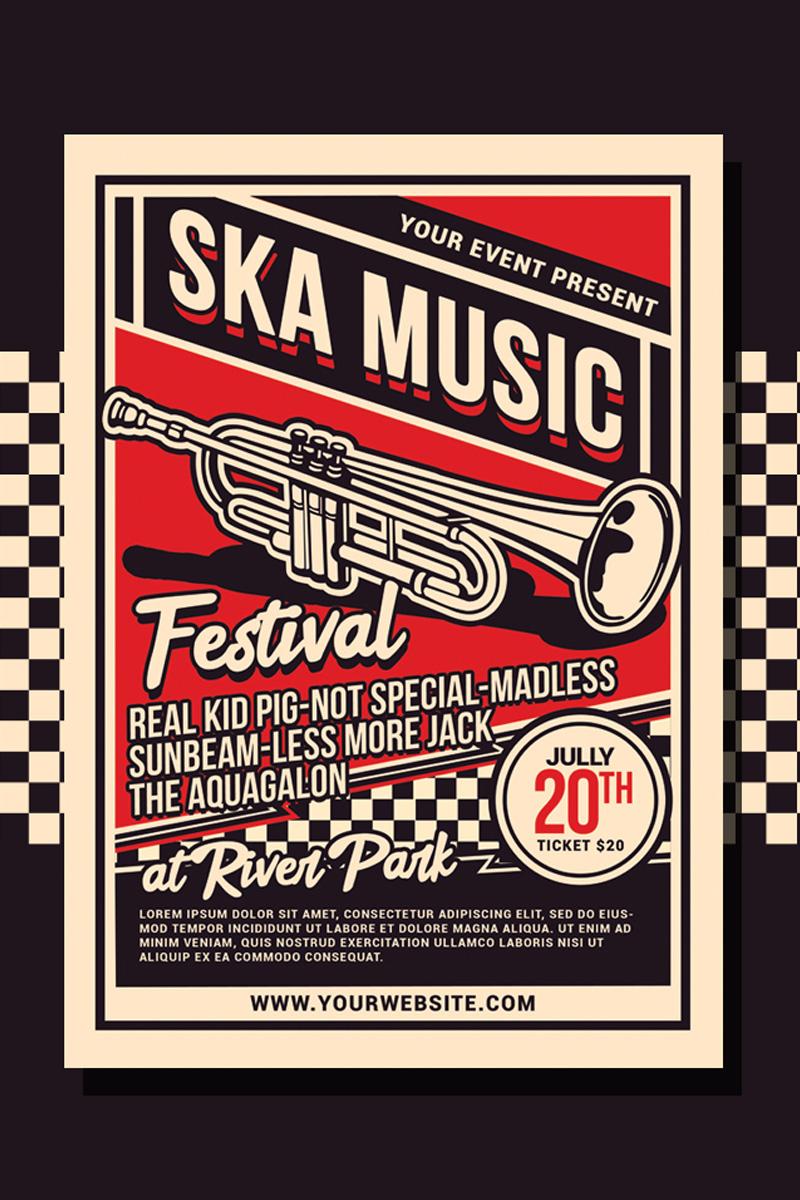Szablon tożsamości korporacyjnej Ska Music Festival #88480