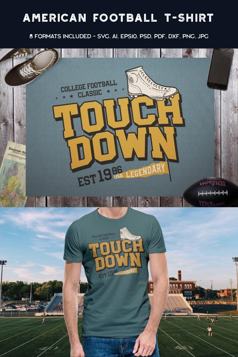 "T-shirt namens ""American Football Touch Down"" #88460"